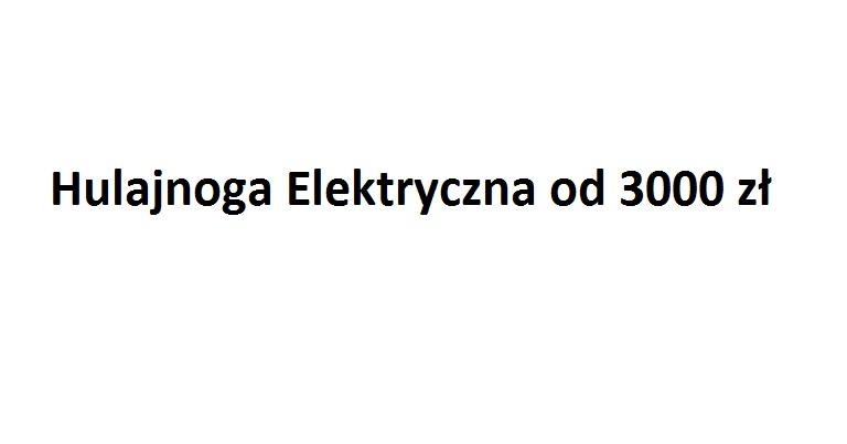 hulajnoga elektryczna od 3000 zł